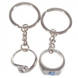 Porte-clé couple bagues
