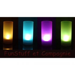 Bougie LED multicolore