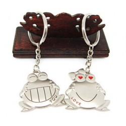 Porte-clé couple grenouilles