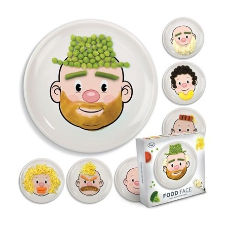 Assiette clown à décorer Food Face
