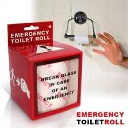 Rouleau papier toilette d'urgence