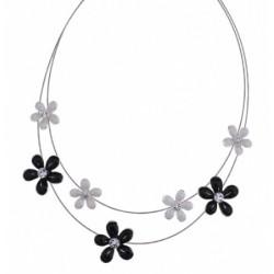 Collier semi rigide fleurs
