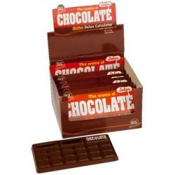 Calculatrice solaire chocolat