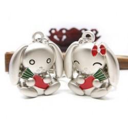 Porte-clé couple lapins