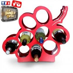 Porte bouteilles grappe de raisin X8