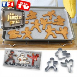 Ninjabread Men Moule à biscuits Emporte-pièces Ninja