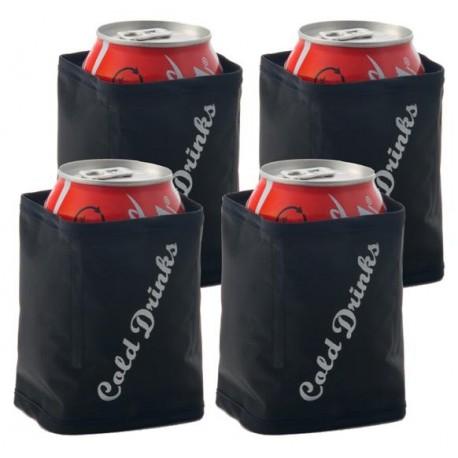 Housses isothermes refroidisseurs de canettes x4