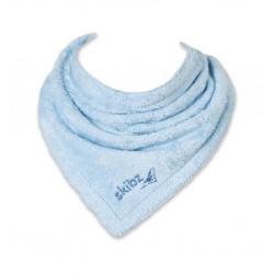 Bavoir bandana bio Skibz bleu