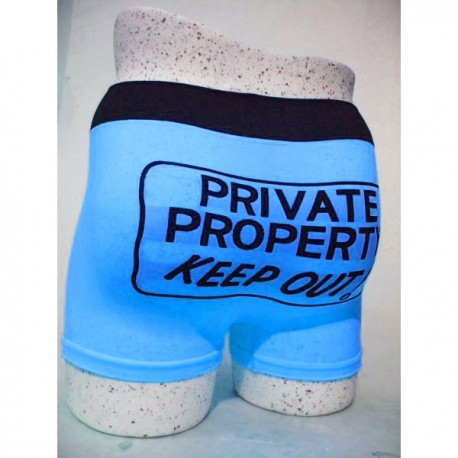 Boxer Stared Private property keep out