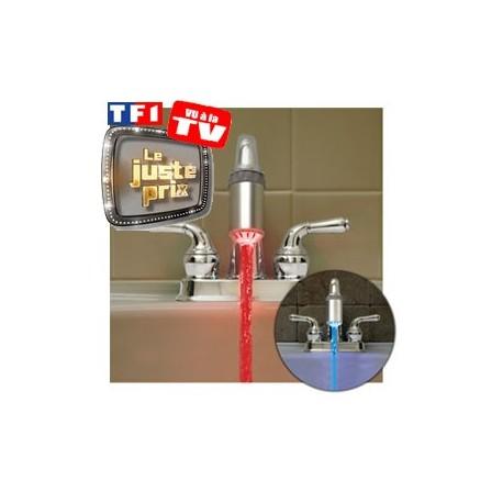Robinet lumineux led bleu rouge gadget utile et original - Robinet salle de bain original ...
