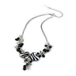 Collier perles noires