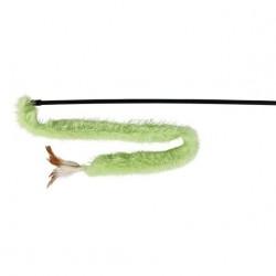Canne à pêche bande de peluche et plumes