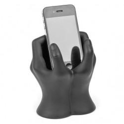 Support Iphone téléphone portable mains noir
