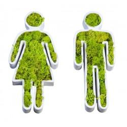 Tableau végétal City déco patch Toilettes Flowerbox