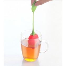 Infuseur à thé fraise en silicone