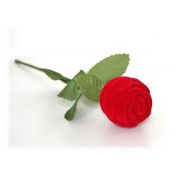 Ecrin bague de fiançailles rose rouge