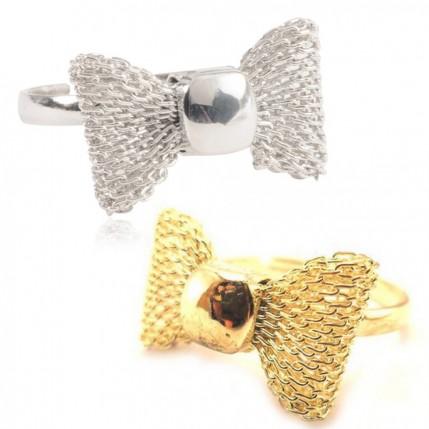 Bague noeud papillon réglable ajustable